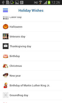 Holiday Wishes Android screenshot